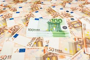 paper money euro. background of banknotes photo