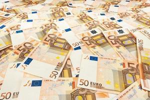 papel-moeda euro. fundo das notas