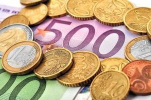 euro bills photo