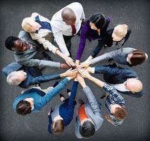 concepto de equipo de compañeros de trabajo de cooperación de personas de negocios