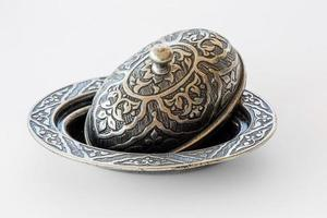 Traditional cooper bowl for Trukish delight or candy