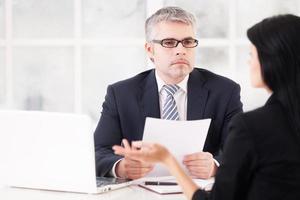 Job interview. photo