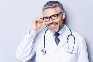 Experienced and confident doctor.