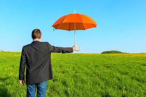 insurance agent provides protection. conceptual photo