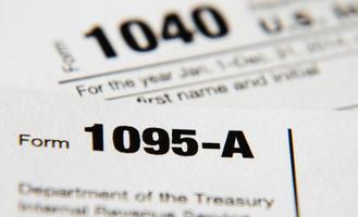 irs form 1095-a (ley de atención médica asequible) foto