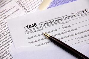 declaración de impuestos foto
