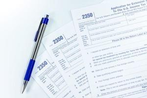 U.S. income tax form photo