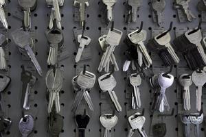 llaves en la tienda foto