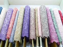 Colorful fabric . photo