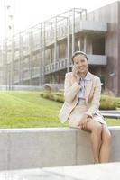 mujer de negocios feliz foto