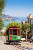 San Francisco tram and beautiful Hyde street