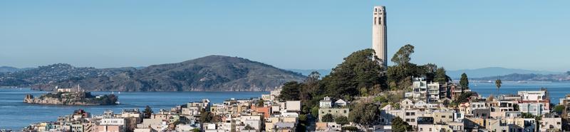 vista panorámica de la bahía de san francisco foto