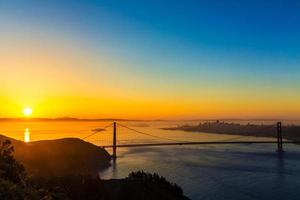Golden Gate Bridge San Francisco sunrise California
