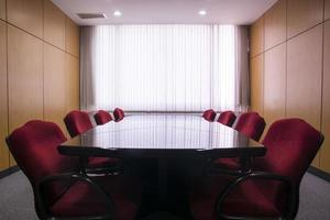 Conference table and chairs in the meeting room