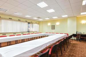 Modern conference room ready for meeting