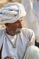 Senior asian bedouin man portrait photo