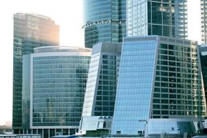 business modern buildings from glass