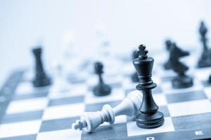 Chess figure, business concept strategy, leadership, team and success photo