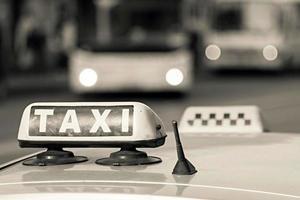 emblem taxi of beige color
