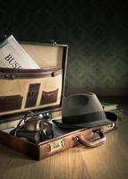 maletín vintage poreportero foto