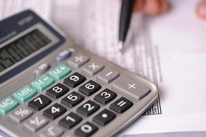 Calculator and business balance photo