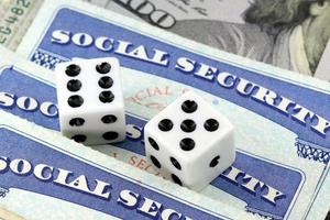 Gambling on social security benefits and retirement income photo