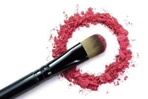 brush and crushed eyeshadow