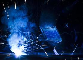 Employee welding. photo
