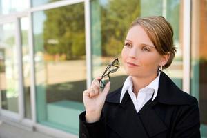 Business Woman / Thinking photo
