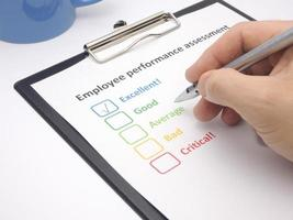 Employee performance assessment - excellent photo