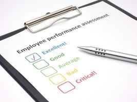 evaluación del desempeño de los empleados - excelente foto
