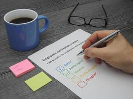 Employee motivation survey photo