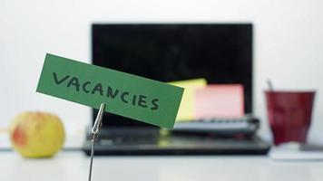 Vacancies memo