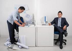 Employer and employee photo