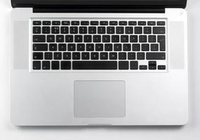 teclado de la computadora portátil