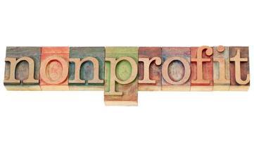 nonprofit word in letterpress type