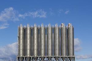 silos industriales foto