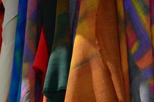 Multicolored painted silk photo