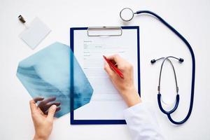 radiólogo en el trabajo