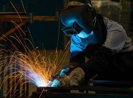 Welding work. photo