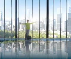 Businessman Environmental Conservation Concepts Success Solution