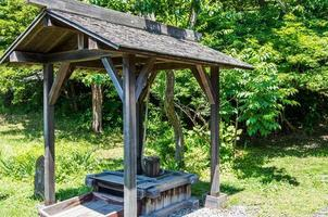 Wooden well photo