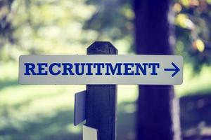 Recruitment signpost photo