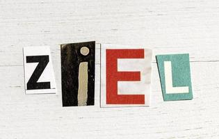 Ziel - aim in german photo