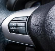 Audio control buttons on car