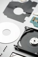 Disassembled laptop hard drive