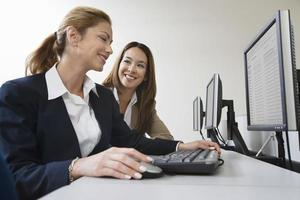 Business person working at computer photo