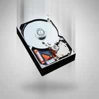 Computer hard disk falling photo