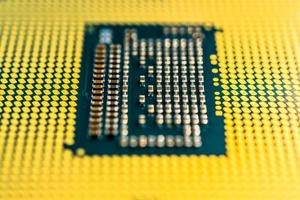 close-up de chip de computador
