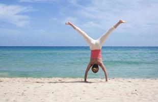 Cartwheel on the beach photo
